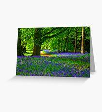 Bluebell Wood - Thorpe Perrow #3 Greeting Card