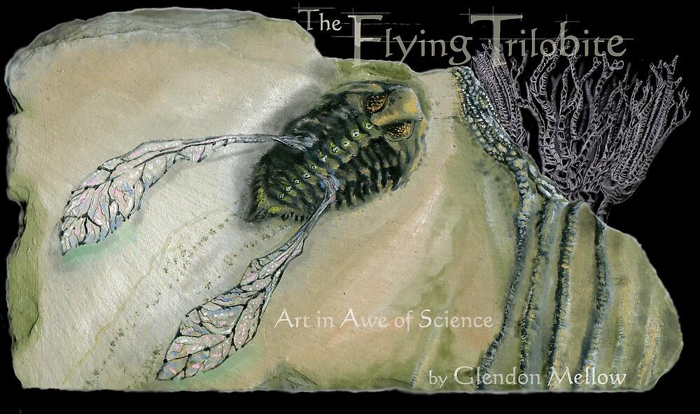 The Flying Trilobite 3 - black version by Glendon Mellow