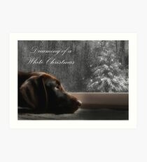 Dreaming of A White Christmas - Card Art Print