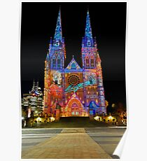Vivid Sydney 2010 | St. Mary's Cathedral 2 Poster
