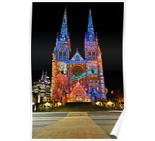 Vivid Sydney 2010   St. Mary's Cathedral 2 Poster