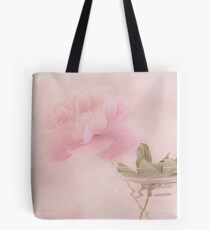 Pink Peony Blossom In Clear Glass Tea Pot  Tote Bag