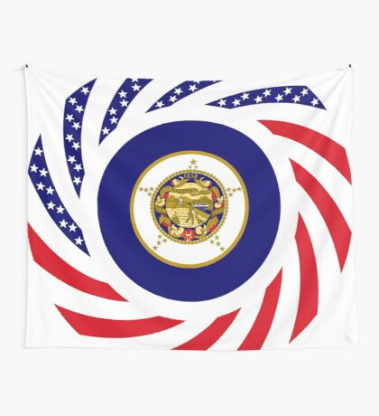 Minnesota Murican Patriot Flag Series Wall Tapestry