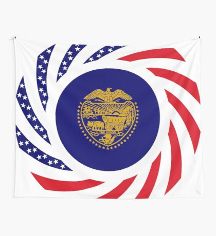 Oregon Murican Patriot Flag Series Wall Tapestry