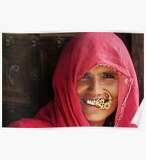a portrait of rajasthan Poster