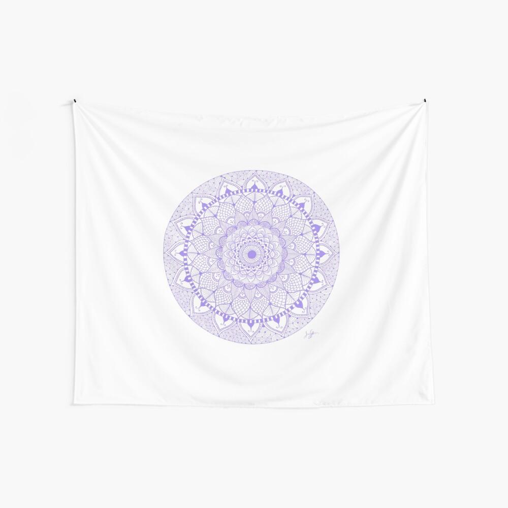 Lila Boho Zentangle Mandala Wandbehang