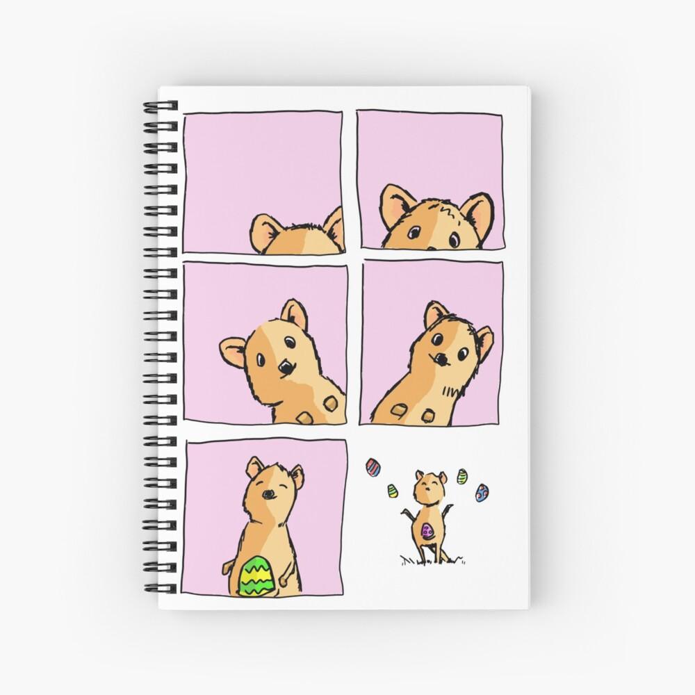 Cute Easter Quokka Spiral Notebook