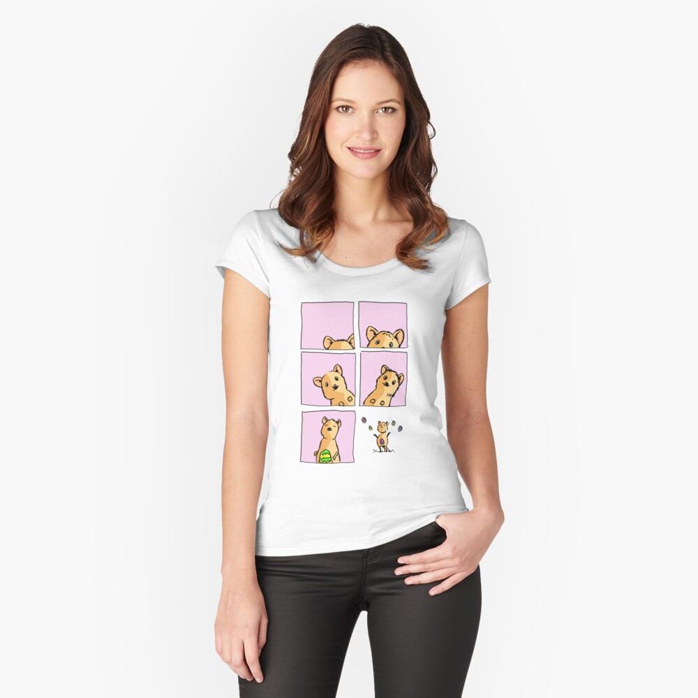 Cute Easter Quokka Fitted Scoop T-Shirt