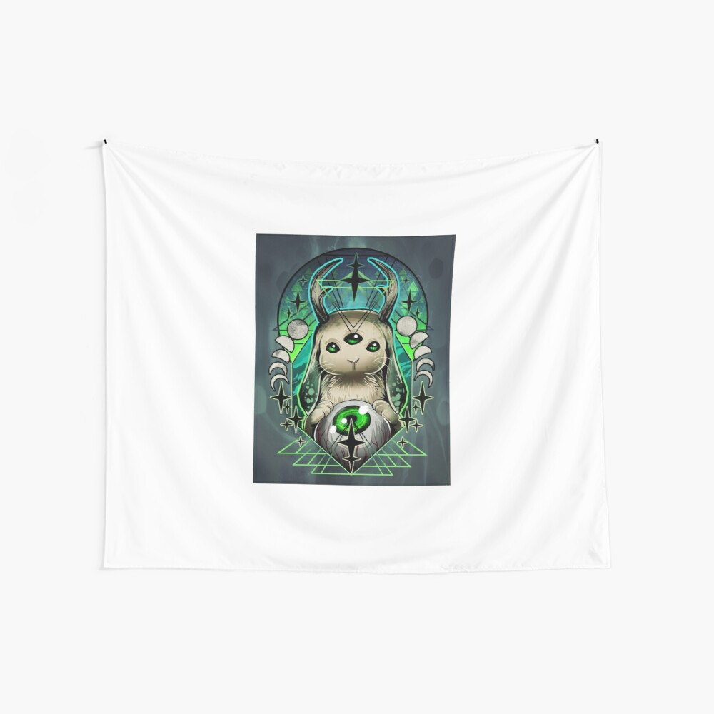 Space Bunny  Wall Tapestry