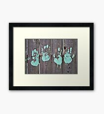 Childs Hand Print Framed Print