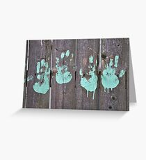 Childs Hand Print Greeting Card