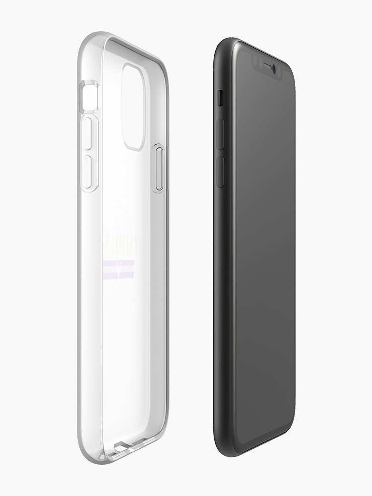 coque iphone x tissu , Coque iPhone «Chemise BTS Taehyung», par text509