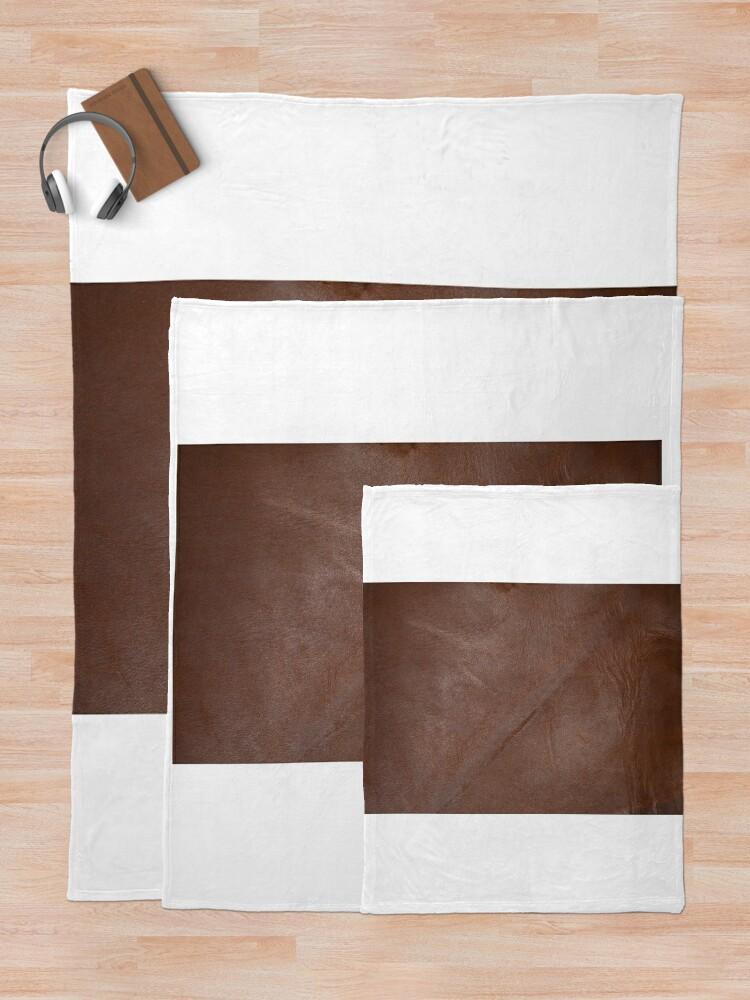 Alternative Ansicht von 2D Photo-Sampling Faux Brown Leder-Effekt Fleecedecke