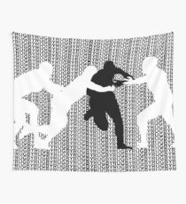 Rugby Tackle 3 Wall Tapestry