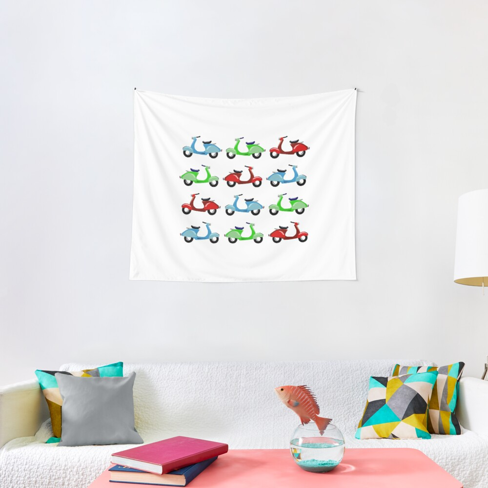 For the love of Vespas Tapestry