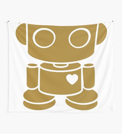 O'BOT: Love is Golden 2.0 Wall Tapestry