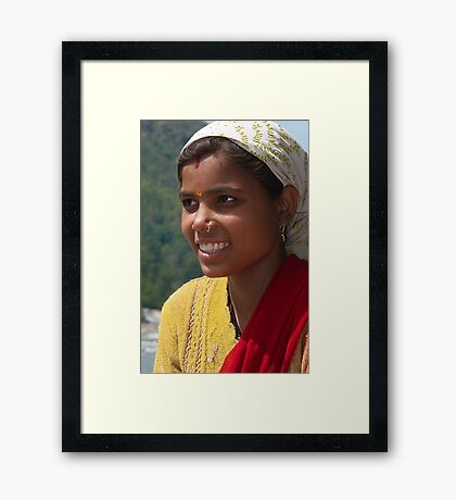 The Country Beauty of Garhwal Framed Print