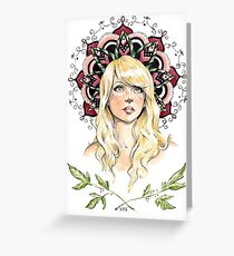 Mandala Girl Greeting Card