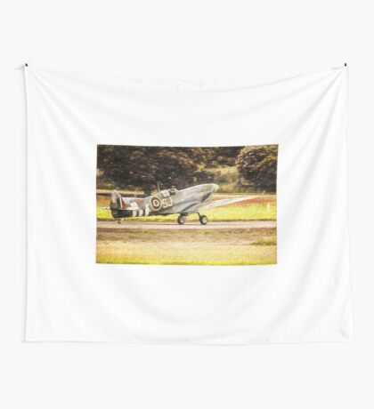 Spitfire Painting Wall Tapestry