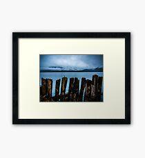 Pier into the Blue Framed Print