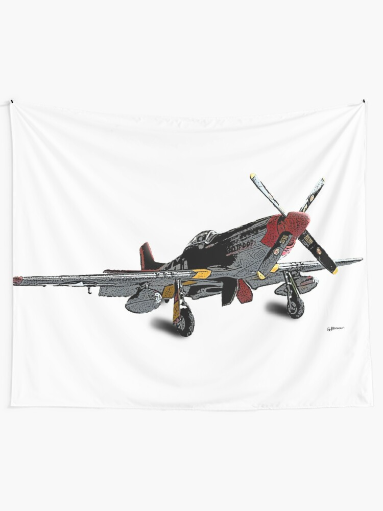 P 51d Mustang Red Tails Tuskegee Airmen Wall Tapestry