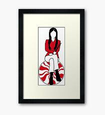Meg White - Peppermint Edition Framed Print