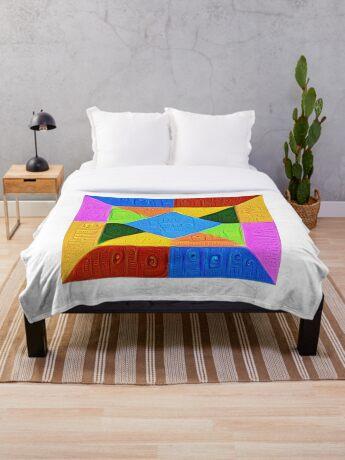 DeepDream Color Squares Visual Areas 5x5K v1447926834 Throw Blanket