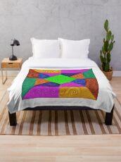 DeepDream Color Squares Visual Areas 5x5K v1448026462 Throw Blanket