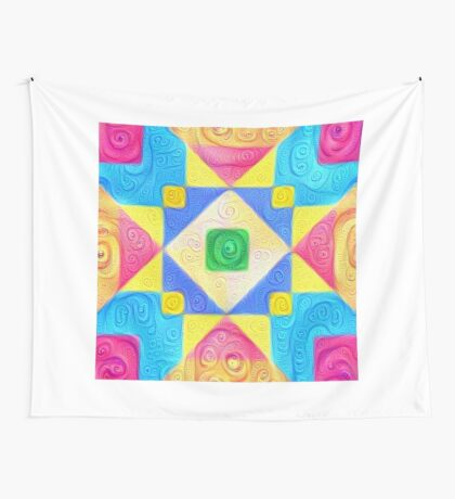 #DeepDream Color Squares Visual Areas 5x5K v1448181063 Wall Tapestry
