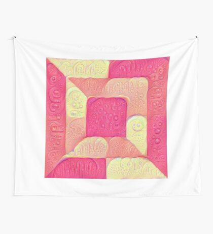 DeepDream Color Squares Visual Areas 5x5K v16 Wall Tapestry