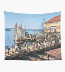 Pier at the inlet, Atlantic City, N.J. year 1904 Wall Tapestry