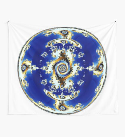 Blue Crystal Ball  Wall Tapestry
