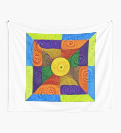 DeepDream Color Squares Visual Areas 5x5K v1447854295 Wall Tapestry