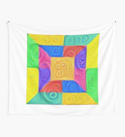 DeepDream Color Squares Visual Areas 5x5K v12 Wall Tapestry