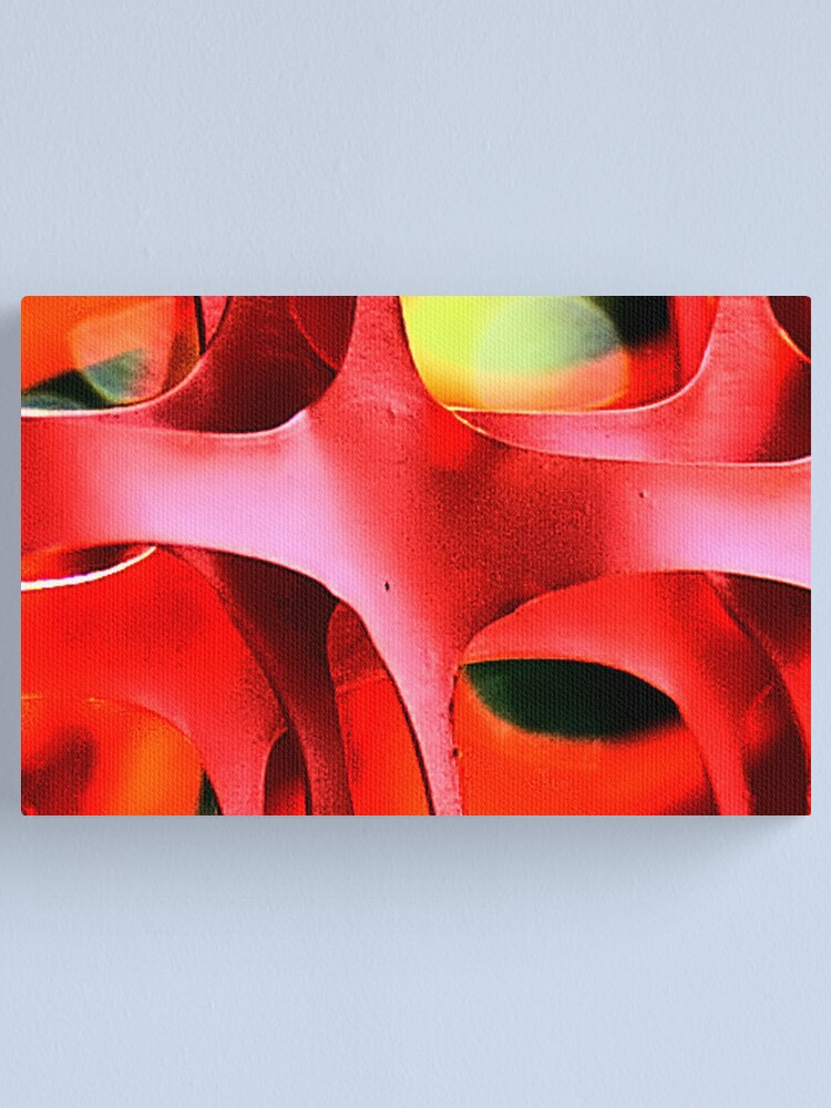 Alternate view of Red abstract Canvas Print