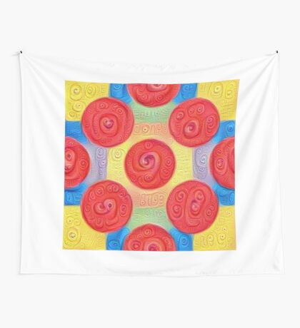 #DeepDream Color Squares and Circles Visual Areas 5x5K v1448272824 Wall Tapestry