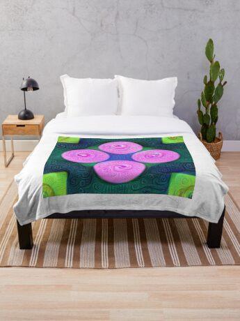 #DeepDream Color Squares Circles Visual Areas 5x5K v1448204645 Throw Blanket