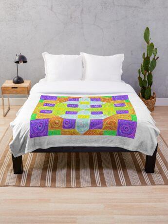 #DeepDream Color Squares Visual Areas 5x5K v1448291932 Throw Blanket
