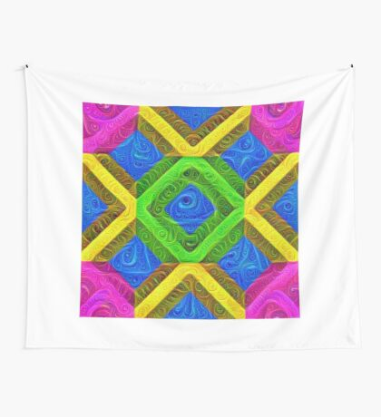 #DeepDream Color Squares Visual Areas 5x5K v1448364075 Wall Tapestry
