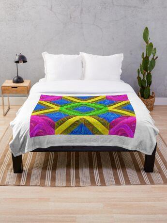 #DeepDream Color Squares Visual Areas 5x5K v1448364075 Throw Blanket