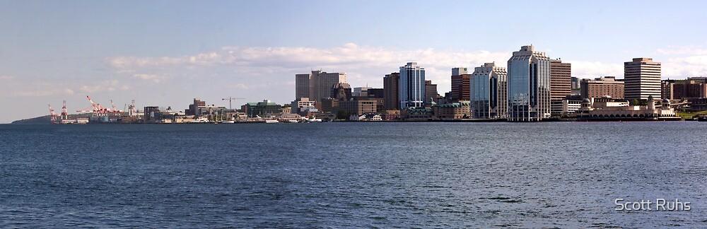 Halifax Harbour Panorama by Scott Ruhs
