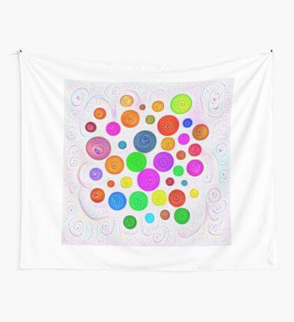 #DeepDream Color Circles Visual Areas 5x5K v1448374069 Wall Tapestry