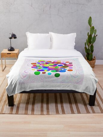 #DeepDream Color Circles Visual Areas 5x5K v1448388480 Throw Blanket