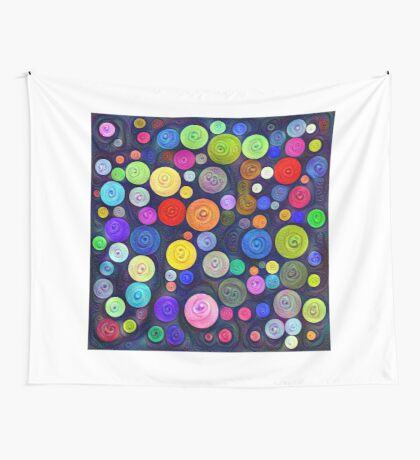 #DeepDream Color Circles Visual Areas 5x5K v1448448724 Wall Tapestry