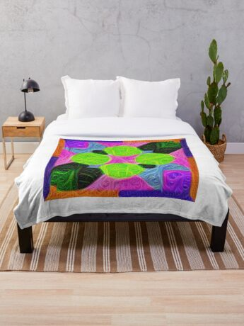 #DeepDream Color Squares Visual Areas 5x5K v1448212784 Throw Blanket