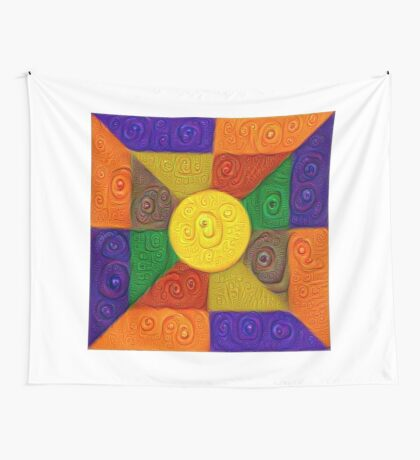DeepDream Color Squares Visual Areas 5x5K v20 Wall Tapestry