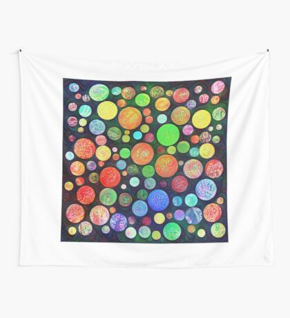 #DeepDream Color Squares Circles Visual Areas 5x5K v1448464170 Wall Tapestry