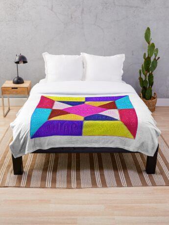 DeepDream Color Squares Visual Areas 5x5K v1447942584 Throw Blanket