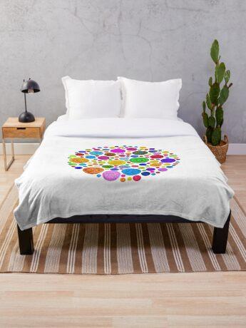 #DeepDream Color Circles Visual Areas 4x4K v1448872458 Throw Blanket