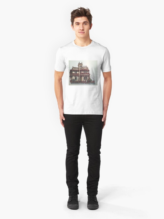 Alternate view of Phryne Fisher's house 'Wardlow'©.  Slim Fit T-Shirt